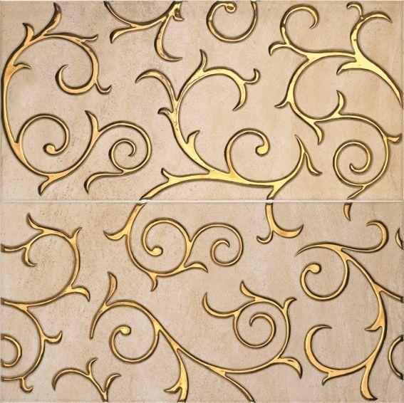 Плитка с золотыми завитками